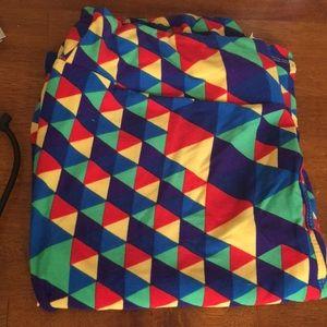Lularoe tc like new leggings primary colors print